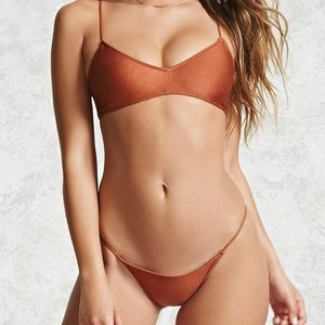 NWT Forever 21 Bronze bikini set bralette rust